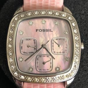 Fossil Y2K pink watch